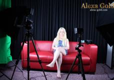 Backstage: Pause während des Interviews